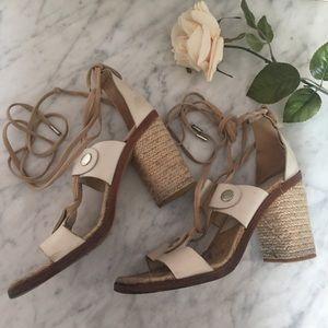 Rag & Bone Leather Eden Block Sandals Size 8